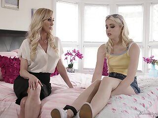 Brandi Have a crush on swan around on Chloe Cherry increased by they have passionate sex