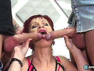 GILF Caroline Hamsel hard gangbang video