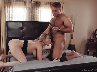 Muscular man fucks his busty wife so hard that she in the final damn near deliver
