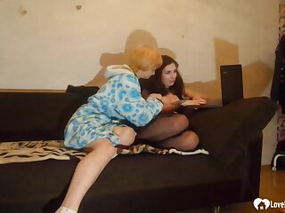 Saucy stepsisters rate some stinking lesbian pleasures