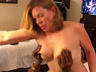 Horn-mad whore amazing interracial porn