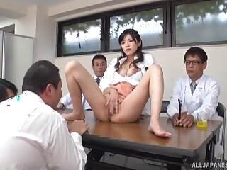 Desirable Japanese model Sara Yurikawa moans while sucking a dick