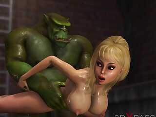 Big gross plays round a hot sexy girl to the underground