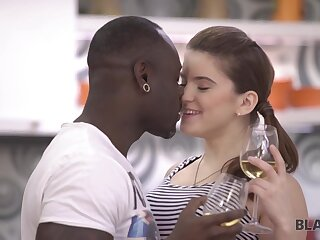 Interracial Reverence Of Devoted Teen Plus Caring Black Guy With Evelina Darling