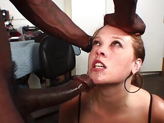 Wife with huge heart of hearts in poikilothermal interracial on cam